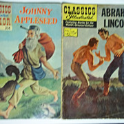 Classics Illustrated Comic Pair: Abraham Lincoln AND Johnny Appleseed