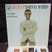 Johnny Mathis: Live It Up, Columbia Records LP Vintage Record