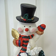 Vintage Snowman Figurine