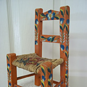 SOLD Vintage Hand Crafted Doll Chair