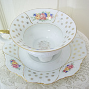 Bavarian China Cup and Saucer