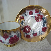 Elizabethan Fine Bone China Cup and Saucer by Taylor And Kent, England
