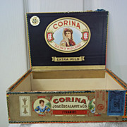 Vintage Corina Jose Escalante & Co. Cigar Box