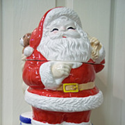 Ceramic Santa Claus Cookie Jar