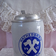 SOLD Hackerbrau Munchen 1417 Beer Stein