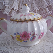W.S. George Bolero Fine China Sugar Bowl w/ Lid