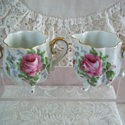 Dresden Rose Creamer and Sugar NW-9/304 Vintage China