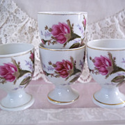 Dresden Rose Pattern Softboiled Egg Cups