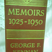 1st Edition, Memoirs of George F. Kennan: 1925-1950, Little Brown & Co 1967 HC
