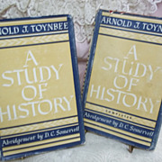Arnold J. Toynbee's A Study of History in Two Volumes, Abridgement by D.C. Somervell, Oxford U
