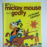 Walt Disney Mickey Mouse and Goofy Explore Energy 1976 Promotional Comic
