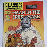 Classics Illustrated No. 54, Dec. 1948: The Man in the Iron Mask VERY Early Edition