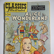 SOLD Early Edition Classics Illustrated No. 49, July 1948: Alice in Wonderland