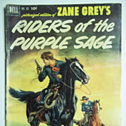 RARE Dell Comics Zane Grey's Riders of the Purple Sage No. 379, 1952