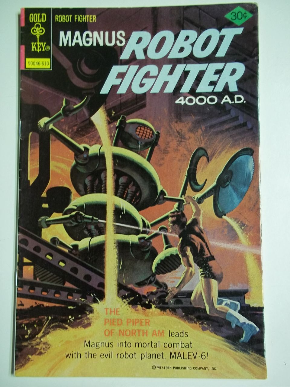 Gold Key Comics Magnus Robot Fighter No. 45, Oct. 1976