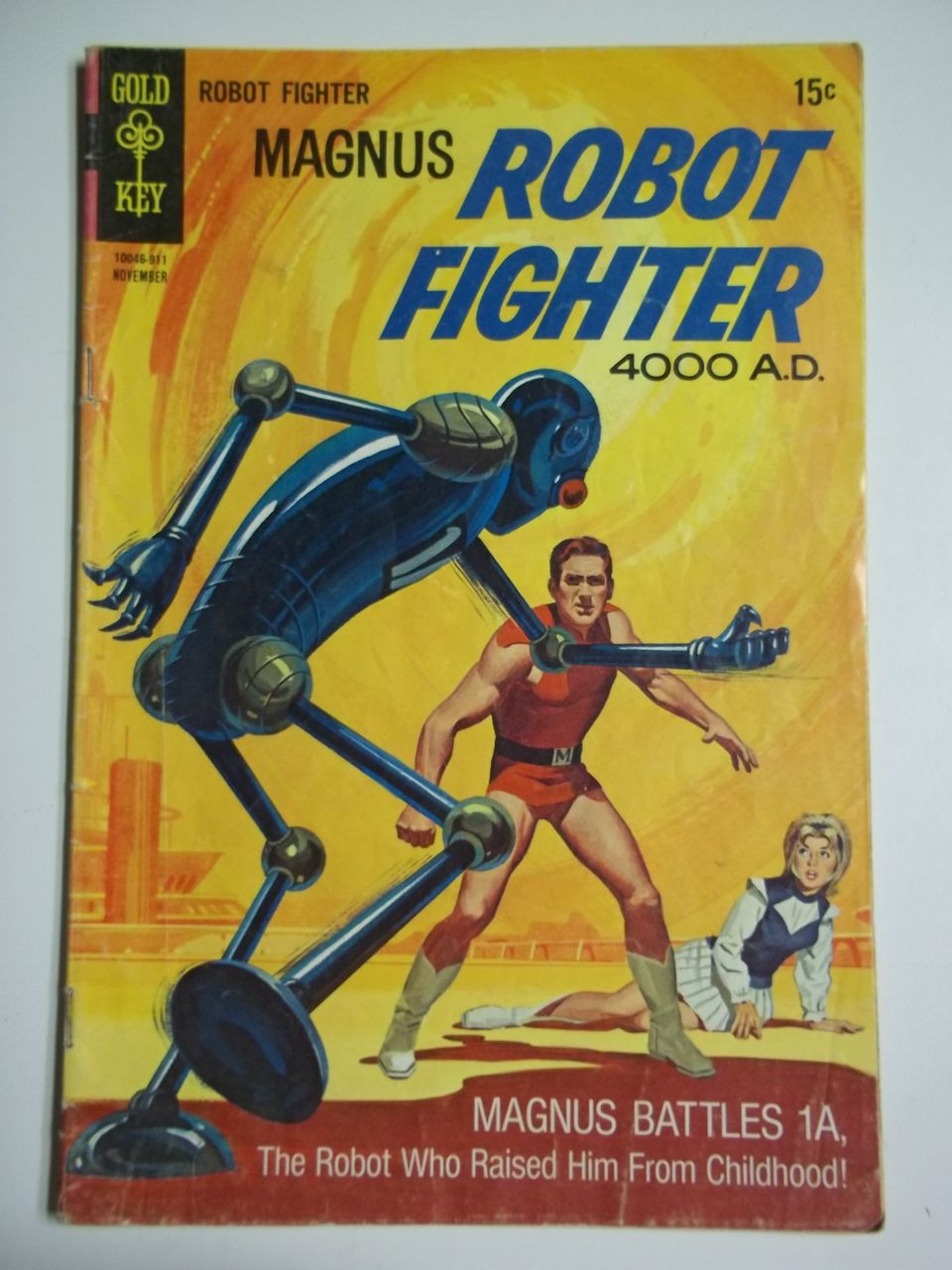 Gold Key Comics Magnus Robot Fighter No. 28, Nov. 1969