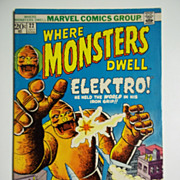 Marvel Comics Where Monsters Dwell No. 22, Vol. 1, July 1973