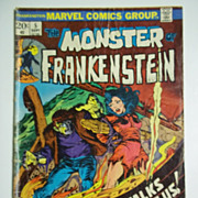 Marvel Comics The Monster of Frankenstein Vol. 1, No. 5, Sept. 1973