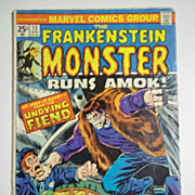 Marvel Comics The Frankenstein Monster Vol. 1, No. 13, Nov. 1974