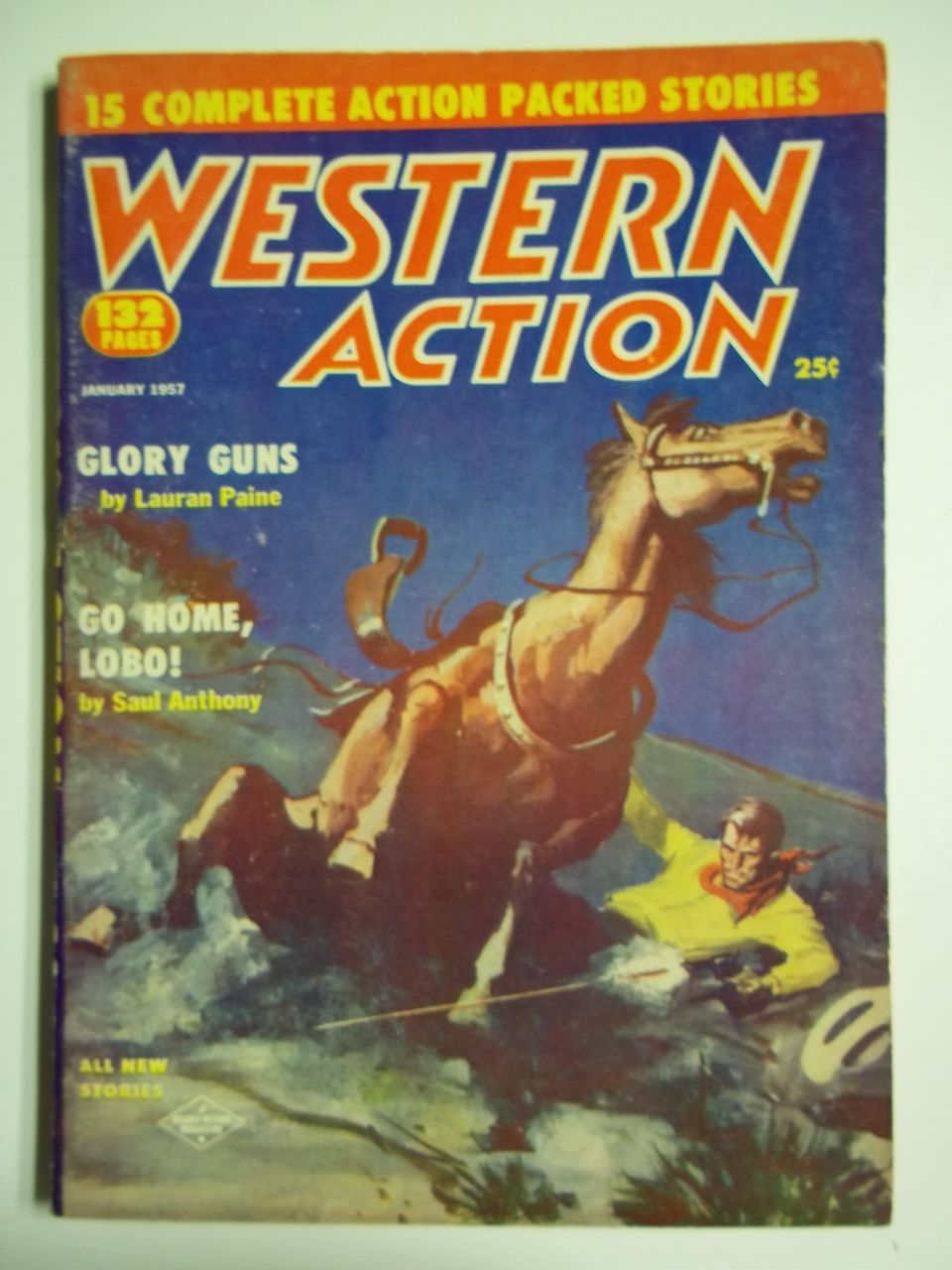 Western Action Number 4, Vol. 20, Jan. 1957 Western Pulp Magazine