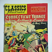 Early Edition Classics Illustrated No. 24, Sept. 1945: A Connecticut Yankee in King Arthur's .