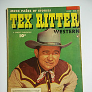 RARE! Tex Ritter Western No. 17, June 1953