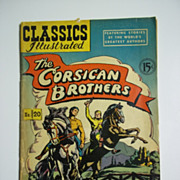 Classics Illustrated No. 20 The Corsican Brothers Early Edition