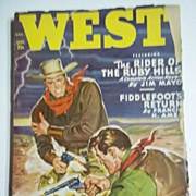 West Vol. 71, No. 3, Sept. 1949 Pulp Western Magazine