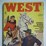 West No. 1, Vol. 72, Nov. 1949 Pulp Western Magazine