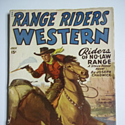 Range Riders Western No. 1, Vol. 21, July 1949 Western Pulp Magazine