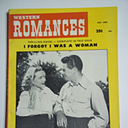 Western Romances No. 1, Vol. 10, Jan. 1960 Pulp Western Magazine