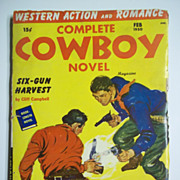 Complete Cowboy Novel Magazine No. 3, Vol. 9, Feb. 1950 Pulp Western Magazine