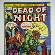 Marvel Comics Dead of Night Vol. 1, No. 4, June 1974