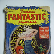 Famous Fantastic Mysteries No. 4, Vol. V, Sept. 1943 Science Fiction Pulp