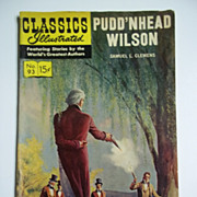 Classics Illustrated No. 93, March 1952: Pudd'nhead Wilson