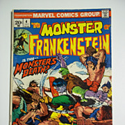 Marvel Comics The Monster of Frankenstein No. 4, Vol. 1, July 1973