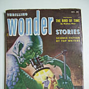 SOLD Thrilling Wonder Stories No. 1, Vol. XLI, Oct. 1952 Science Fiction Pulp