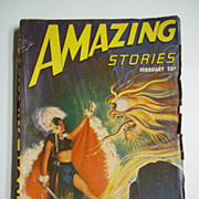 Amazing Stories No. 2, Vol. 21, Feb. 1947 Sci-Fi Pulp