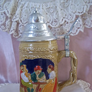 Vintage Hand Painted  Ceramic Beer Stein