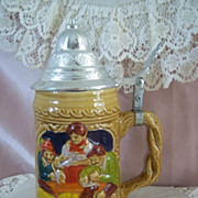 Vintage Ceramic Hand Painted Beer Stein