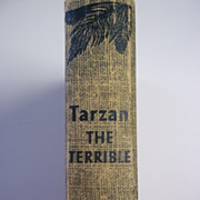 Tarzan the Terrible Edgar Rice Burroughs Grosset & Dunlap ca. 1950s Hardcover