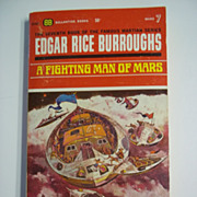 A Fighting Man of Mars Edgar Rice Burroughs Barsoom Series 7 Ballantine Books Paperback 1969