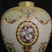 SALE Antique 10 1/2 inch Colorful Doulton Burslem Vase