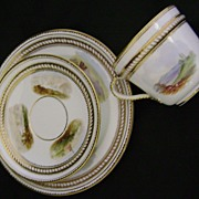 SALE English Trio (cup, saucer, & underplate)