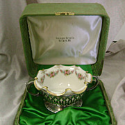 Old Lenox bowl in sterling silver basket with original box