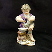 "Antique Meissen ""Boy with grapes"""