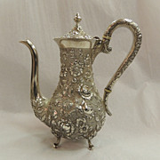 STERLING Silver Repousse Demi Coffee pot