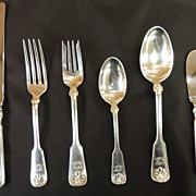 Tiffany Shell & Thread 6 piece place setting service for 8