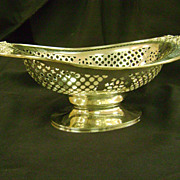 Pierced Sterling Silver Bread Basket