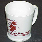 Fire King Vitrock Snowball Fight Bosco Bear D-Handle Mug ~RARE~MINT~